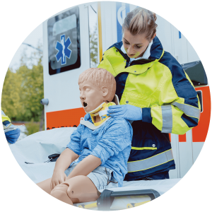 Child Crisis emergency care manikin prepare healthcare workers
