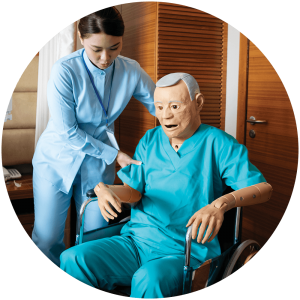Geri simulation in healthcare geriatric manikin