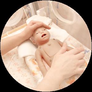 Baby Charlie simulation in healthcare neonatal manikin