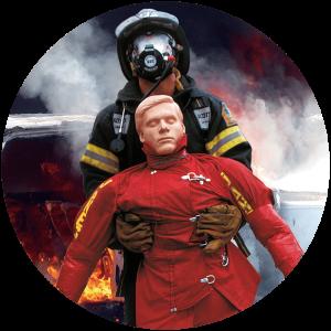 Rescue Randy simulation in healthcare rescue manikin